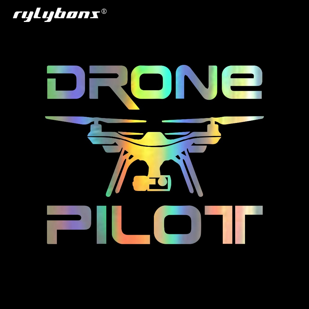 Rylybons 14.6CM*11.9CM Car Sticker UAV Drone Fun Car Stickes Vinyl Decals Car Sticker Decoration Door Body Window Stickers