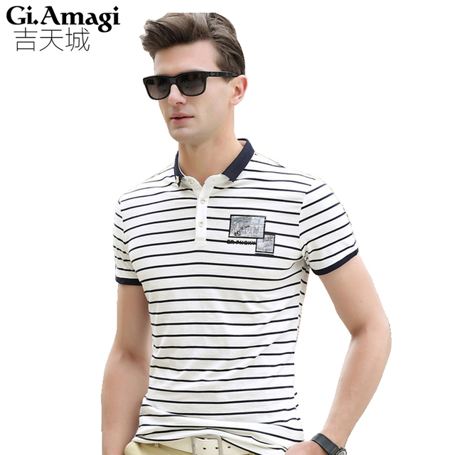 Hot Sale Polo Shirt Men Fashion Stripe Short Sleeve Polos Brand Clothing Camisa Cotton Sportswear Wholesale NYP050