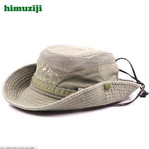 4d7782ee922 himuziji Boonie Fishing Cap Cotton Military Bucket Hat