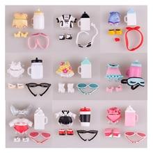 1 set LOL muñeca ropa gafas botella zapatos accesorios lol accesorios en venta colección Original LOL muñecas Envío Directo