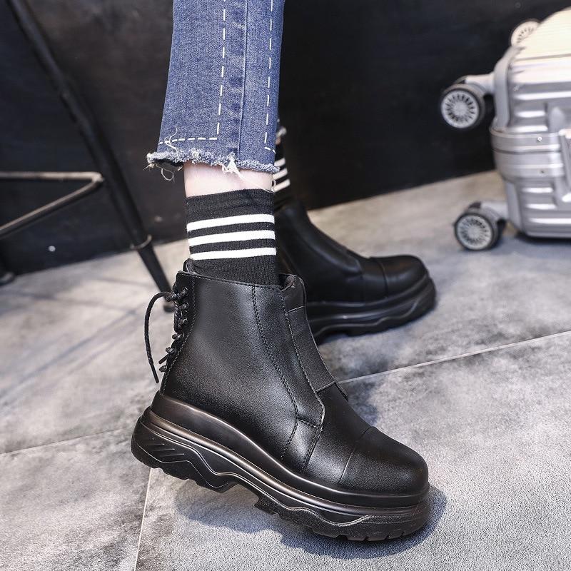 99552bd0 Botas Mujeres Todo With negro Pisos Mtach De Dama Cpi Niñas Ac Fur  Chaussure Calzado Retro Tobillo Martin Black Zapatos ...