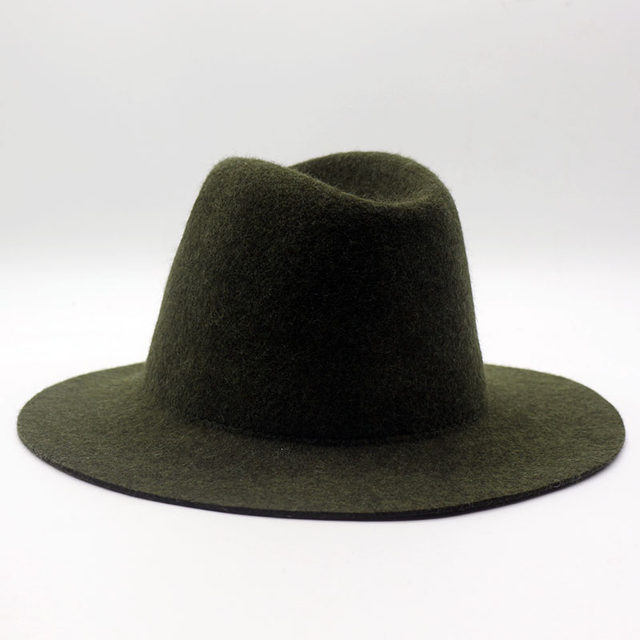 611f6790c Fibonacci 2018 New High Quality Jazz Hat for Women Men Solid Color Wool  Felt Topper Bowler Fedoras Hats-in Fedoras from Men's Clothing &  Accessories ...