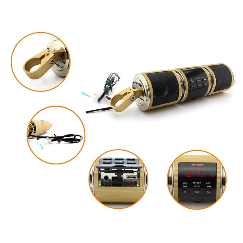 Gewidmet Doitop Wasserdichte Motorrad Bluetooth Lautsprecher Audio Radio Sound System Stereo Lautsprecher Mp3 Usb Unterstützung Tf-karte Mit Fm Radio Herausragende Eigenschaften Lautsprecher