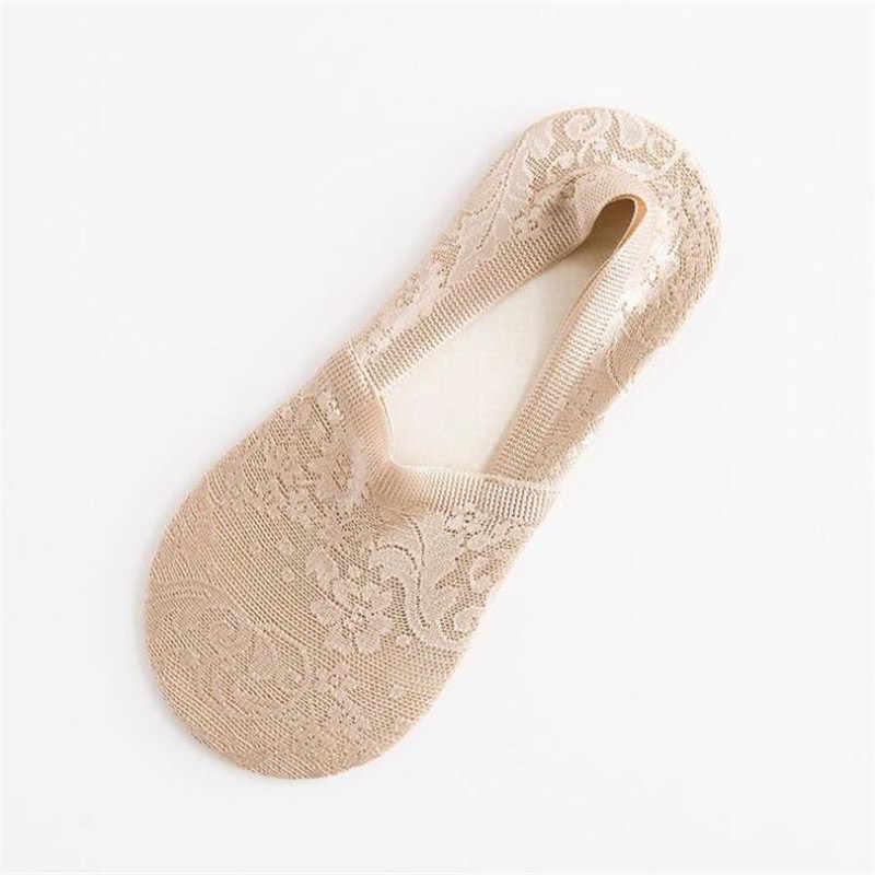 Ilkbahar Yaz kadın çorap Sneakers Kadın Nnon kaymaz Dantel ince Düşük Kesim Kısa Çorap Kadınlar Için Kız Anti -görünmez Tekne Çorap
