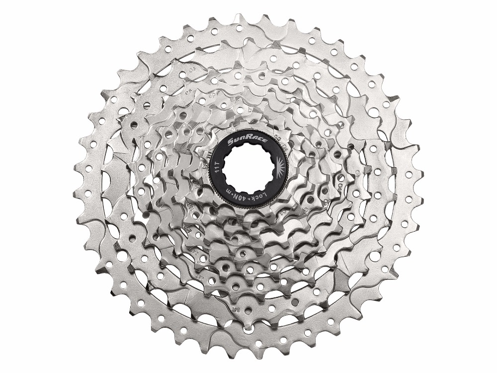 Sunrace 9-speed cassette 11-40T CSM990 Wide ratio in Silver dynavox csm 112 silver
