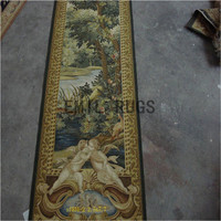 2014 Gobelin Picture Tapestry Wall Hanging Pure Wool Handmade French Gobelins Weave Tapestry 76cmx233cm 2.5'x 7.65'gc16tap27