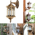 5-30W E27 Retro Exterior Wall Lamp Light Fixture Villa Garden Waterproof Outdoor Lamp Porch Lantern Sconce Lighting AC 220V