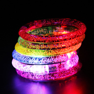 Stars Shine In The Dark Kids Toy 1PCS Luminous Bracelet New Children's Toys Flash LED Cartoon Lights Glow In The Dark Toys Child