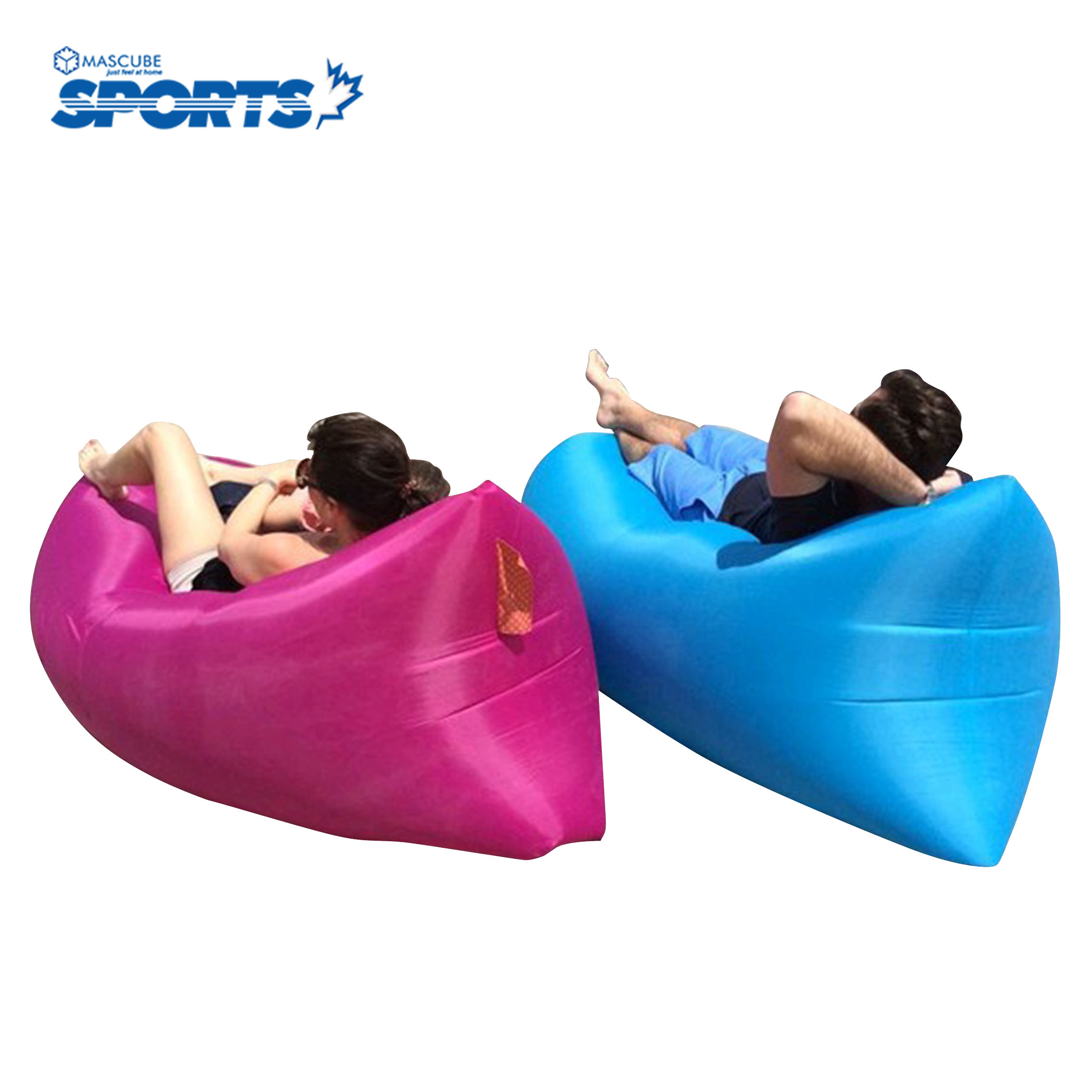 Outdoor Portable Beach Lazy Fold Fast Inflatable Sofa Bed Air Sofa