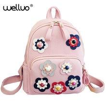 2016 Для женщин цветок мини сумка печати рюкзак женский корейский Школьные сумки для подростков Обувь для девочек маленький рюкзак Mochila Escolar XA308B