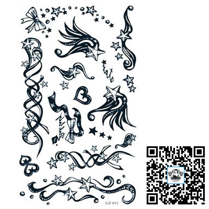 Freeship/6pcs/lot/GF491,Star Temporary Wristband Tattoo