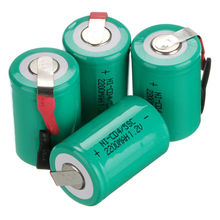 GTF 4PCS 2200mAh 4/5 SC Ni-CD Battery 1.2V Sub C batteries with tab for Power Tools