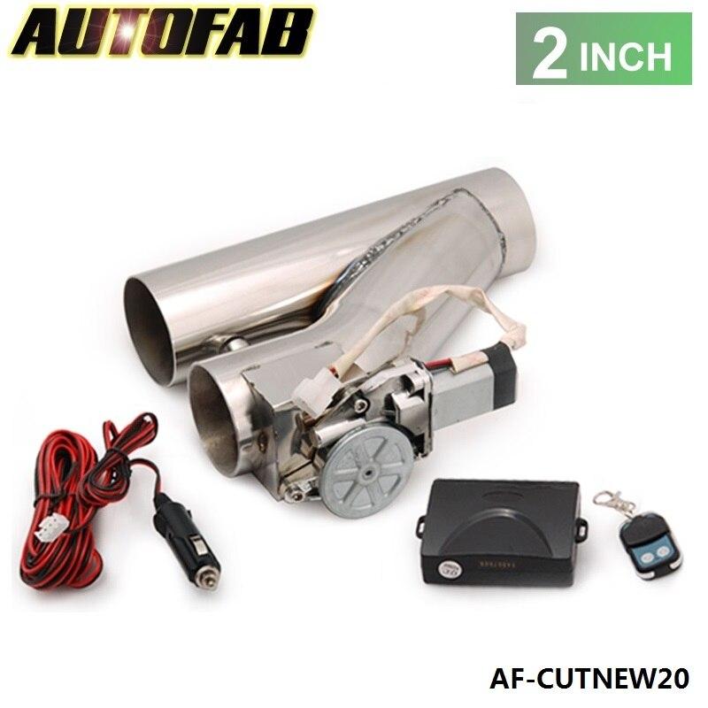 """Prix pour Autofab-universal jdm 2 """"électrique d'échappement catback descente e-cut out bypass valve kit + à distance pour honda accord 03-05 af-cutnew20"""