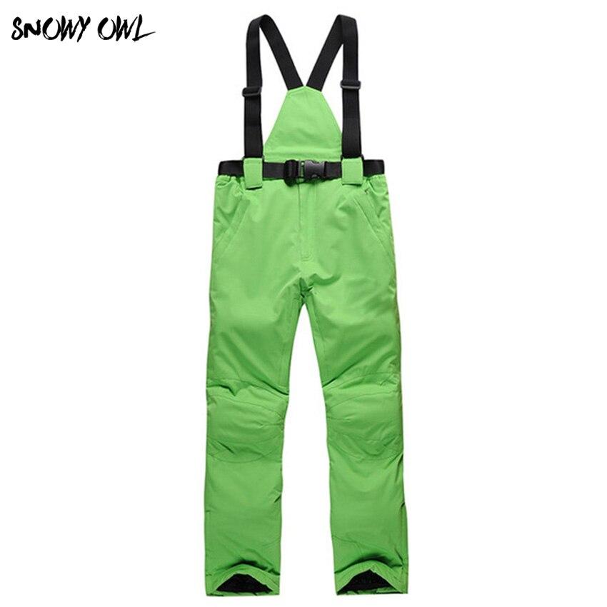 Лыжные штаны женские Для мужчин зима пара на открытом воздухе лыжные штаны ветрозащитный водонепроницаемый тепловой утолщение Спортивный ...