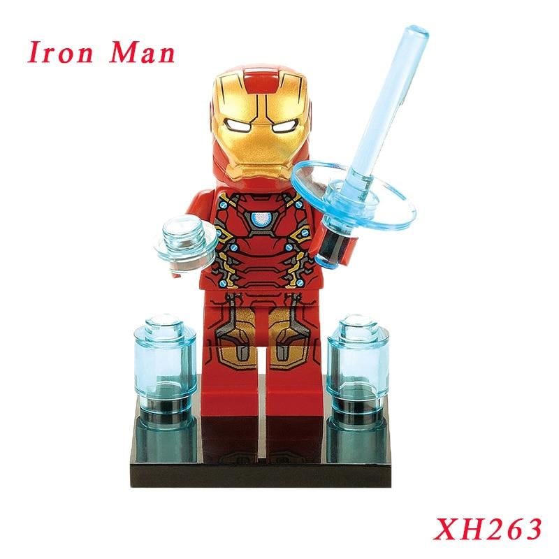 Iron Man Tony Stark Diy Dolls Single Sale Super Heroes Illuminati Star Wars Models & Building Blocks Toy Gift For Children Xh263