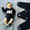 BODYSUITS DO BEBÊ de Algodão Infantil Body de Manga Longa Roupas Batman Macacão Impresso Menina Do Menino Do Bebê Roupas Para Bebês Recém-nascidos Roupas de Banda Desenhada