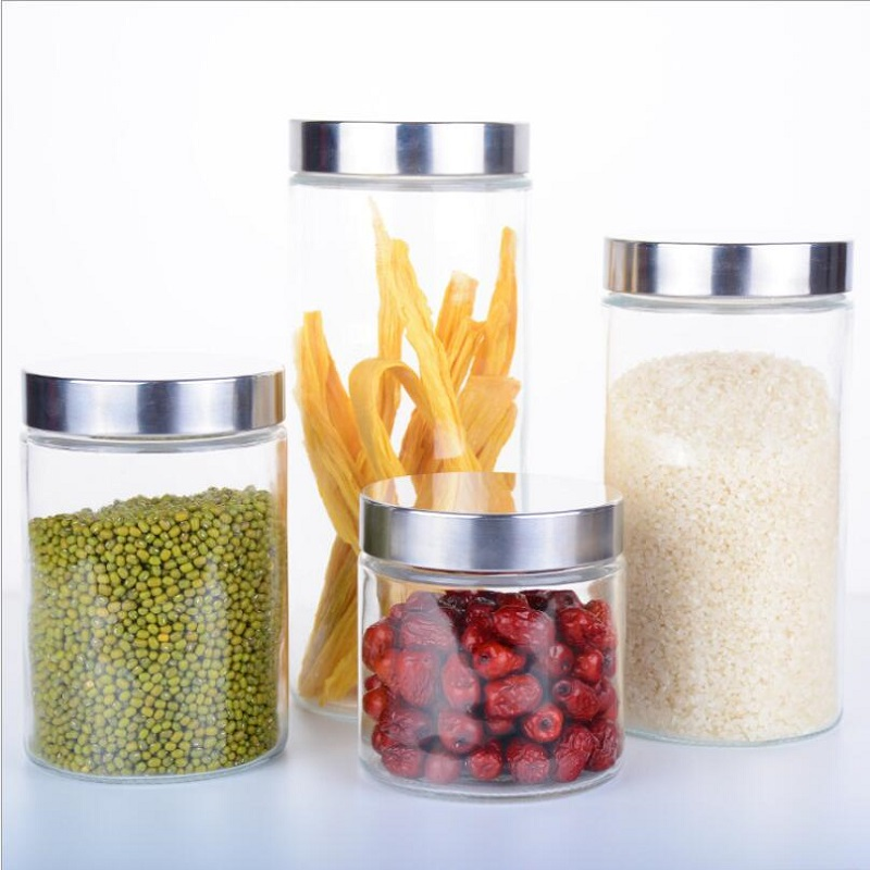2PCS Transparent Glass Jars Seal Jars Grains Container Bottles Spice Jar  Kitchen Storage Cans Glass Kitchen Storage S058C In Storage Bottles U0026 Jars  From ...