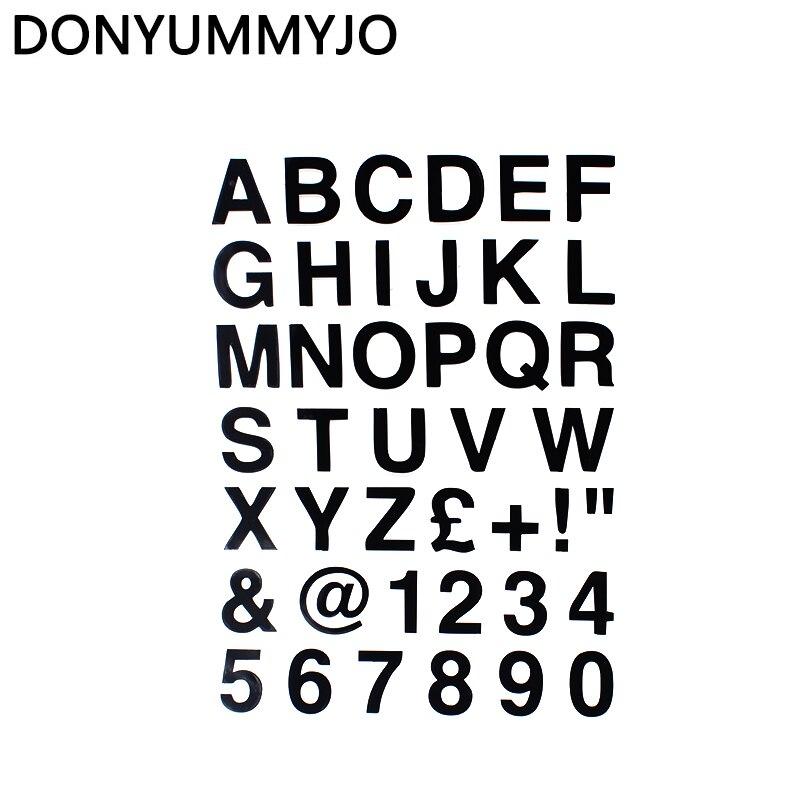 Donyummyjo 16.2*23cm alfabeto letras & números personalizado personalizado adesivo de carro vinil clássico corpo do carro decalques da motocicleta WZ-005