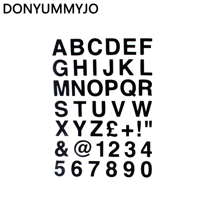 Donyummyjo 16 223cm alphabet letters numbers personalized custom car sticker classic vinyl car body