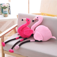 100cm Cute Stuffed Toy Flamingos Plush Toy Soft Simulation Animals Pillow Kawaii Collection Room Decor Toys for Children Gift