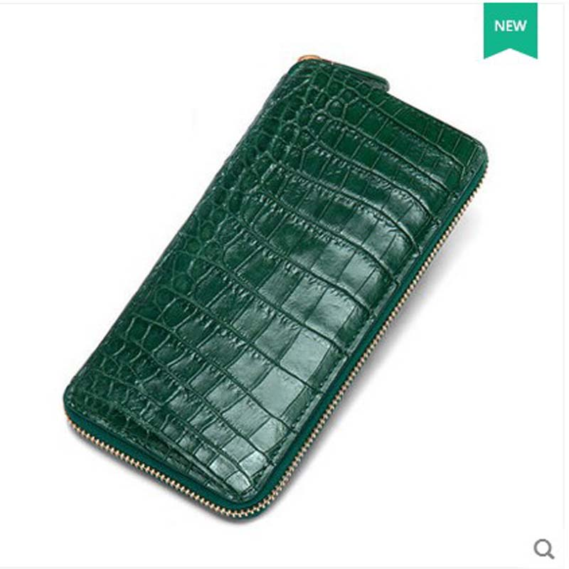 yuanyu new crocodile skin  2017 crocodile leather belly women wallet not spliced Thai alligator leather women clutch bag yuanyu 2018 new hot free shipping crocodile skin new lady long purse wallet tide crocodile hand caught bag women wallet