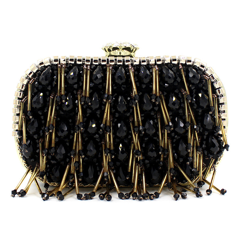 Elegant luxury diamond beaded high quality black satin clutch evening bag chain wedding shoulder bag ladies handbag purse gift boutique charm full of high quality diamond fashion party mini purse clutch evening bag ladies handbag shoulder bag wallet 88631