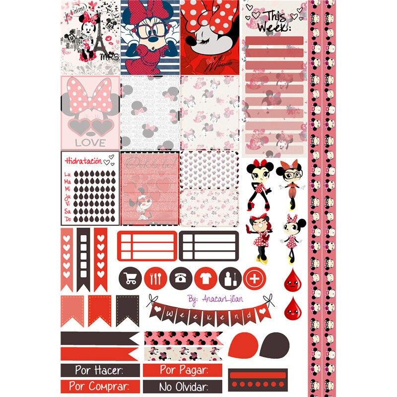 2 Pcs/lot Kawaii Minne Decoration Mohamm Planner Diary Sticker Pack Post It Notebook Agenda Bullet Journal Stickers Scrapbooking