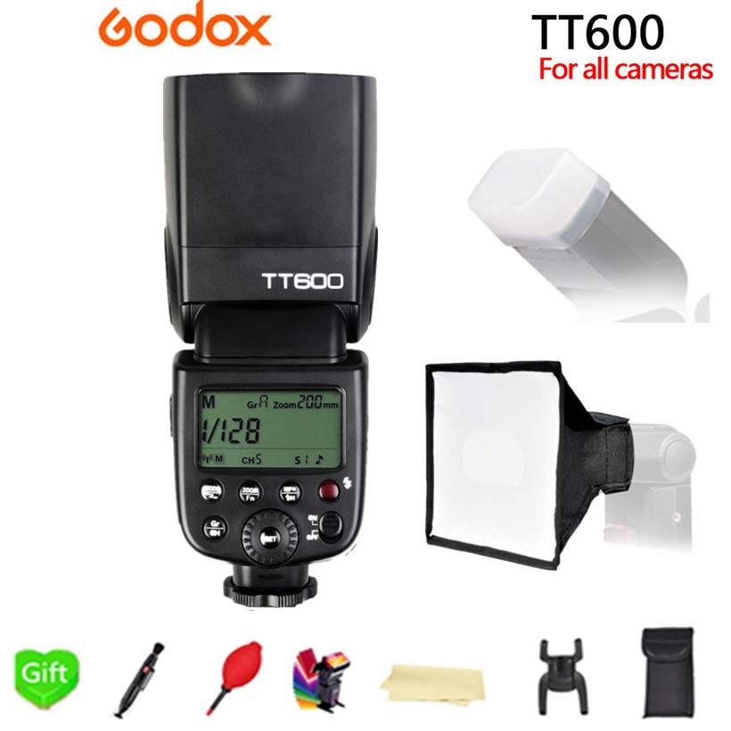 Godox TT600 2.4G Wireless X-System GN60 Master Slave Camera Flash Speedlite for Canon Nikon Sony Pentax Olympus Fujifilm