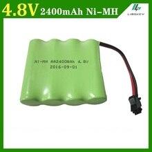 4.8 v 2400 mah eléctrico de juguete de control remoto de iluminación iluminación de seguridad instalaciones 4 * aa ni-mh batería rc juguetes de la batería grupo