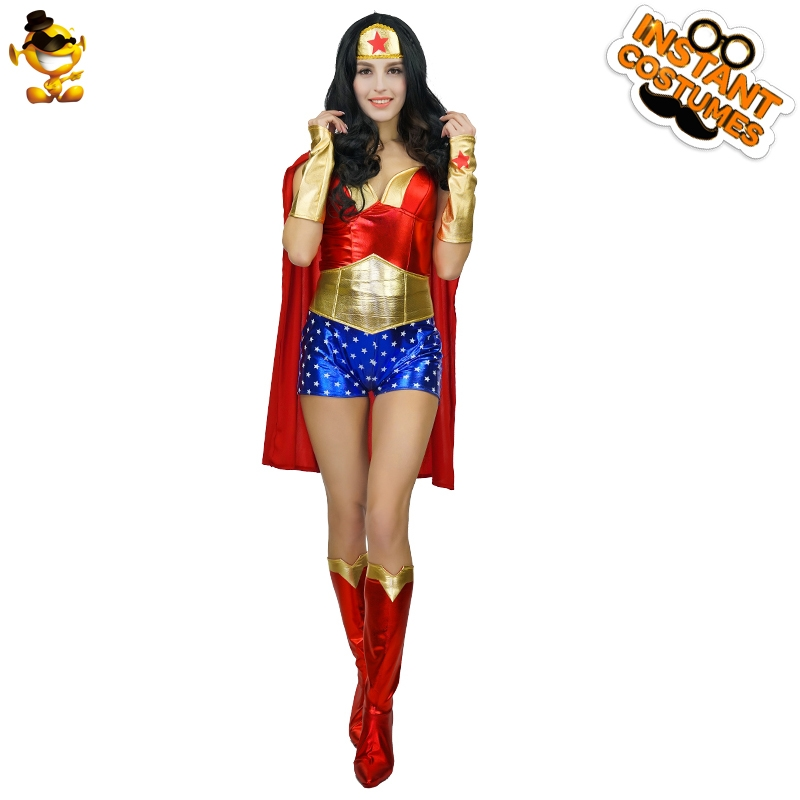 DSPLAY Original Purim Festival America Women Captain Party Costumes Roleplay Movie Outfits Hero Fancy Dress