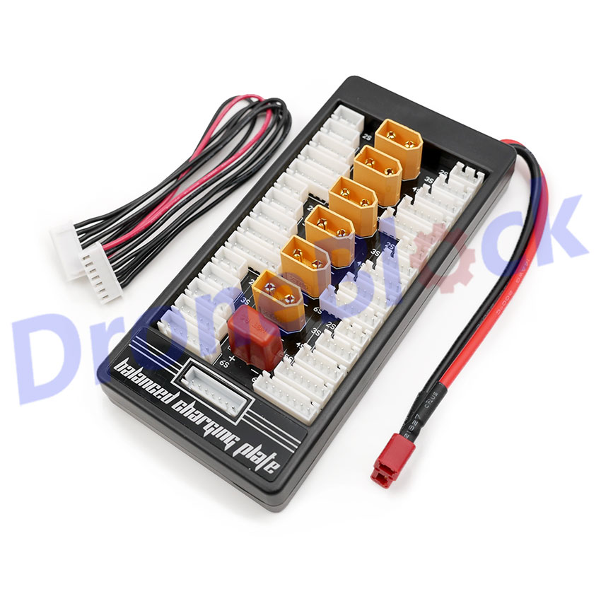 2-6S Lipo Battery Parallel Charging Board Plate Adapter T-plug Charge board optional XT60 Connector for Imax B6 B6AC Charger image