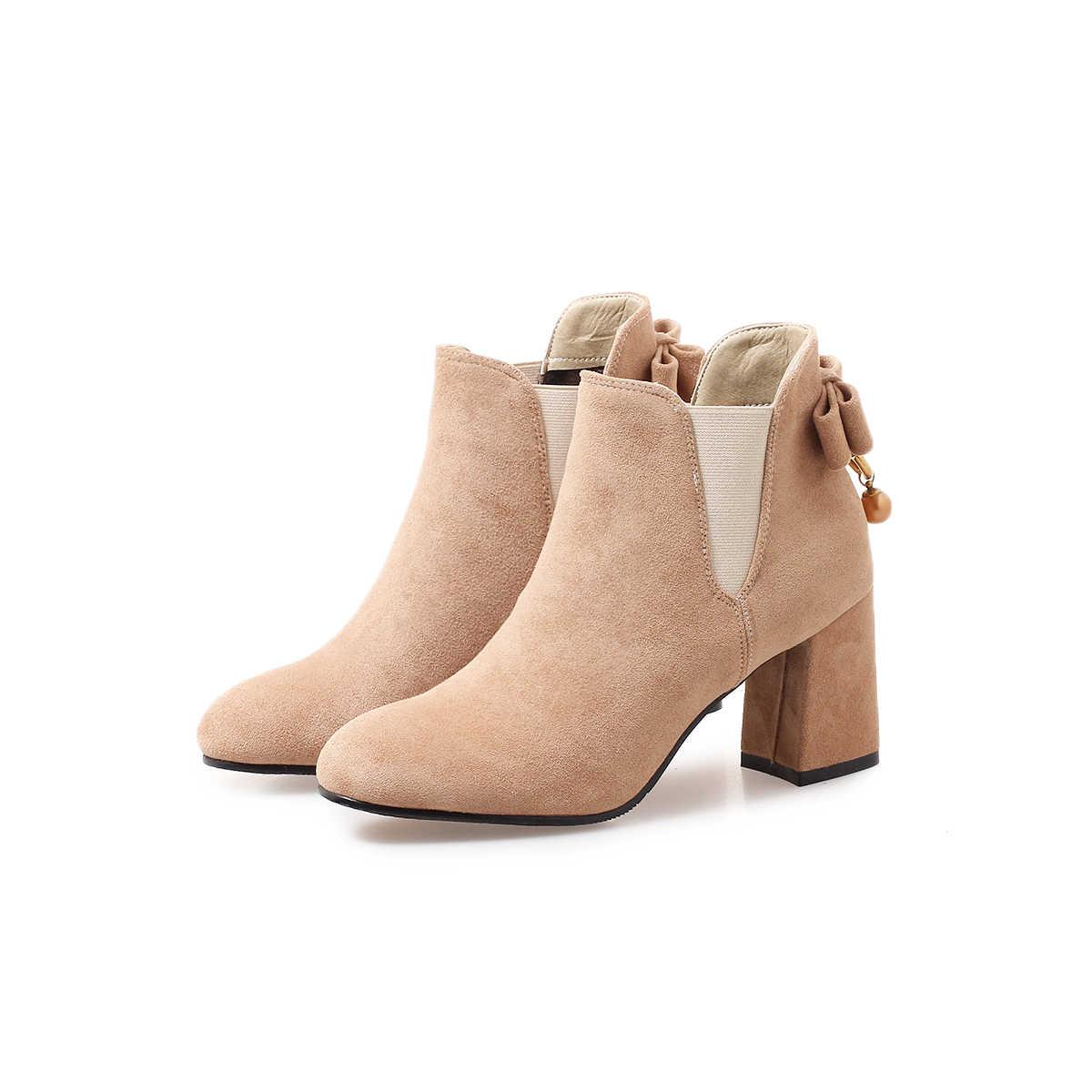 NEMAONE bayanlar yüksek topuklu yarım çizmeler düğün parti elbise ayakkabı kadın sonbahar kış kadın çizmeler büyük boy 42 43