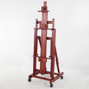 Image 2 - Двухцелевой мольберт Caballete Pintura художника масляная акварельная картина рамка из массива дерева мольберт живопись стенд живопись аксессуары