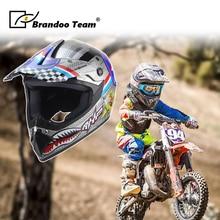 Motocross Helmet Full-Face Children's Riding ABS Abs-Material Men