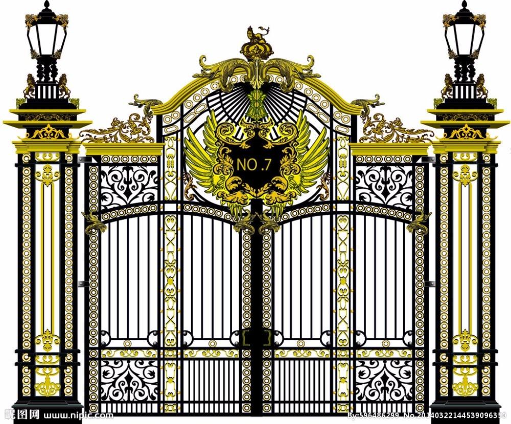 Cast Iron Gates And Railings Security Iron Gates New Design Automatic Sliding Gates Hwg16