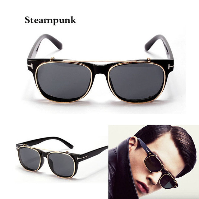 Cool Clip On Sunglasses Tom Men 2015 New Fashion Vintage Mirror Glasses Ford Women Brand
