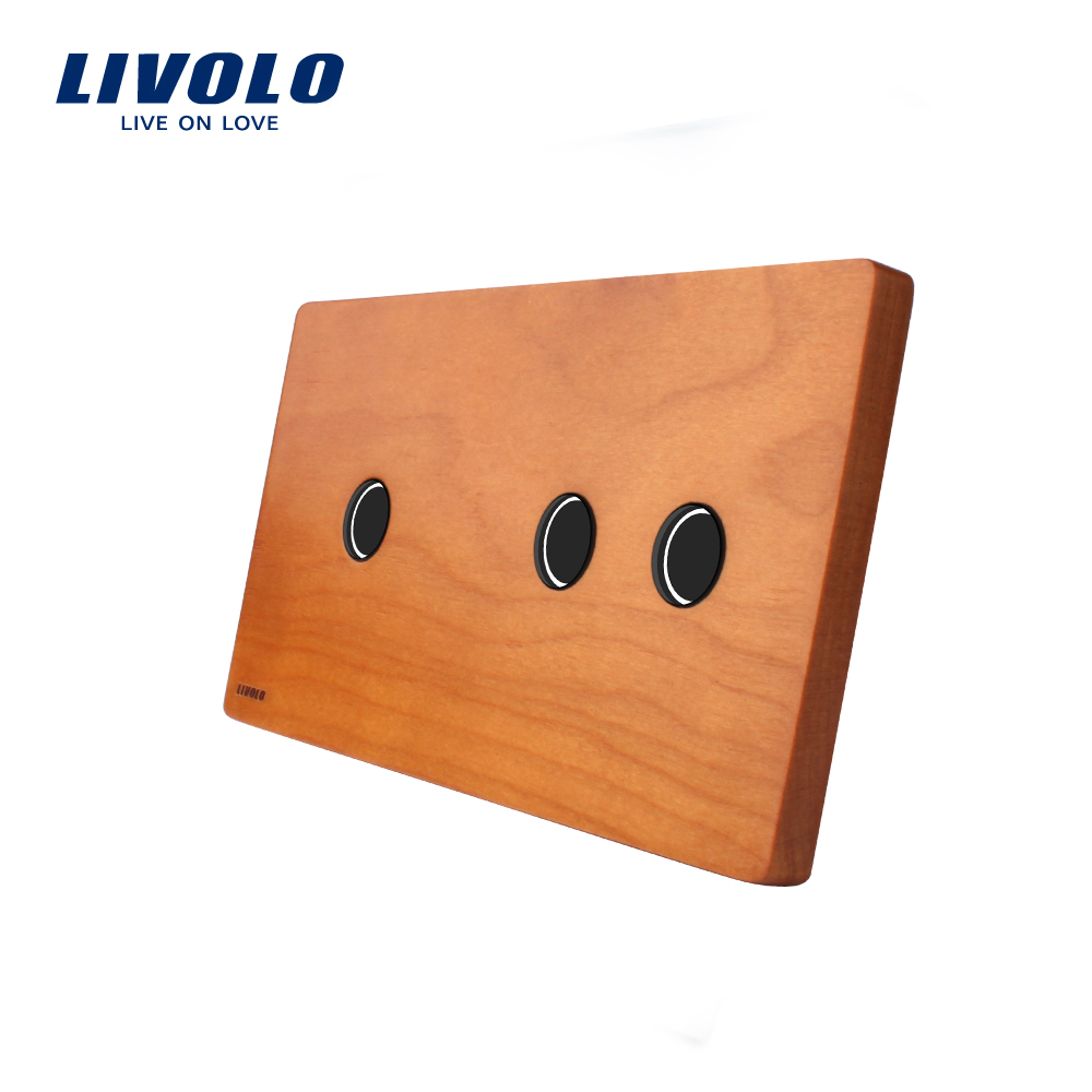 Livolo Luxury Cherry Wood panel, 151mm*80mm, panel Only EU standard, Double Wood Panel, VL-C7-C1/C2-21 only юбка only only eu v15061377 2buy красный 40