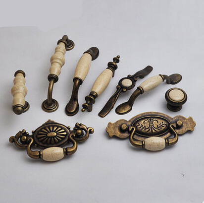 Ceramic Cabinet Knobs And Handles European Style Kitchen