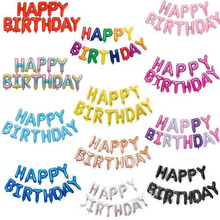 16 Inch Letters Gelukkige Verjaardag Folie Ballonnen Verjaardagsfeestje Decoraties Kinderen Ballen Alfabet Air Ballonnen Baby Shower Benodigdheden