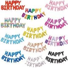 16 pollici Lettere FELICE COMPLEANNO Stagnola Palloncini di compleanno decorazioni festa per bambini palle Alfabeto Air Balloons Forniture Baby Shower