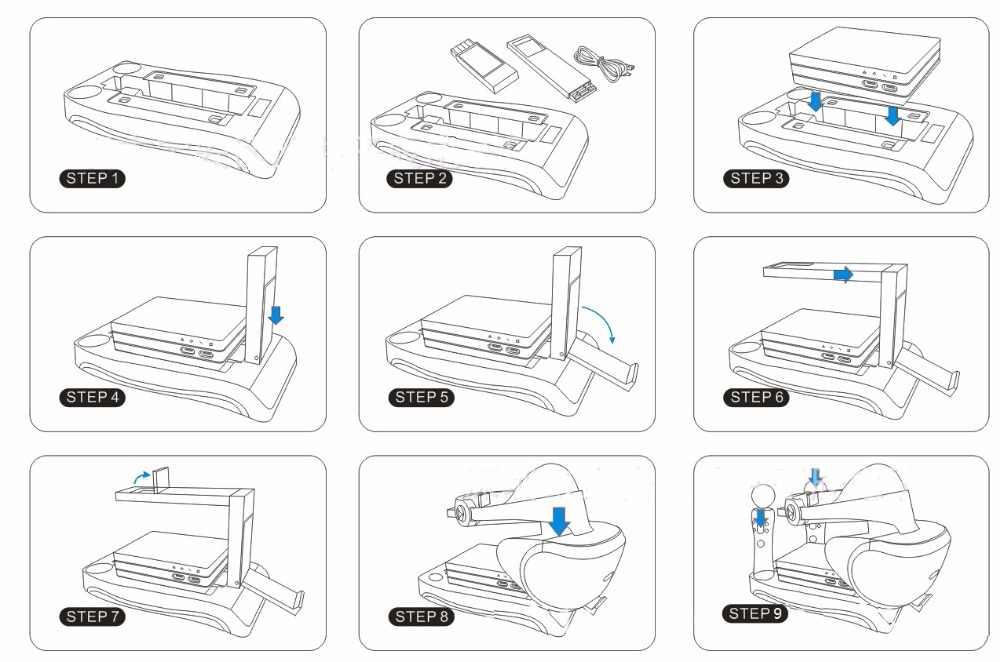 Для PSVR PS4 Очки виртуальной реальности VR PS Очки виртуальной реальности VR гарнитура CUH-ZVR2 2th поколения двигаться зарядная станция стойка-витрина для демонстрации хранения держатель аксессуары для ванной комнаты