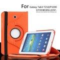 Для Samsung Galaxy Tab3 T210/P3200 360 Градусов Вращающийся Кожаный Чехол для Galaxy Tab3 7.0 дюймовый Защитный Чехол