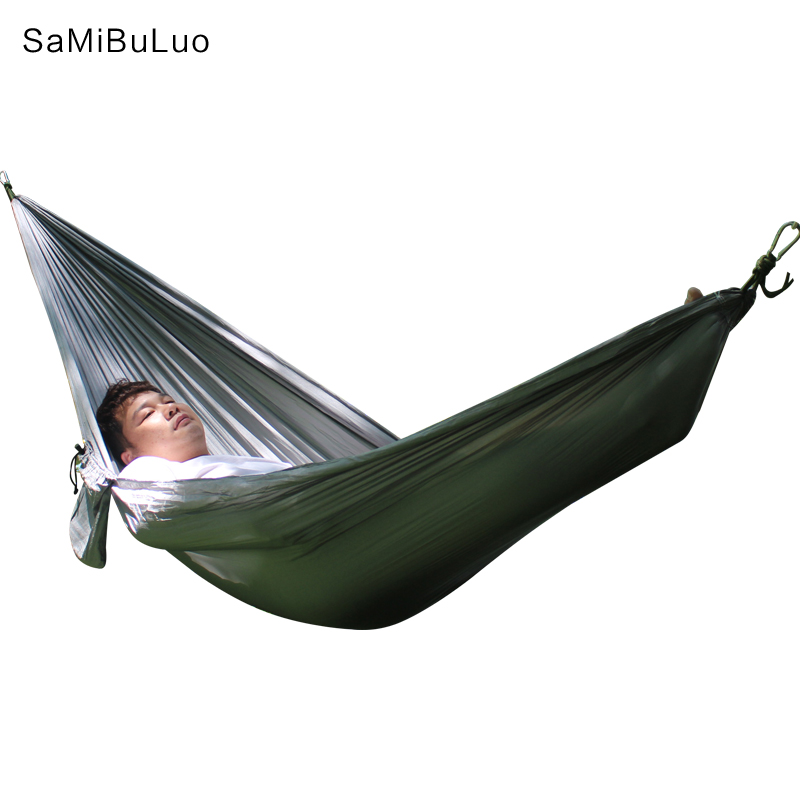 Hammock for Camping Single Double Hammocks Gear For Outdoors Survival Travel Portable Lightweight Parachute Nylon Many Colors