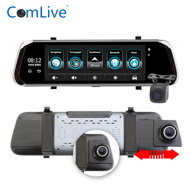 "Latest Camlive V8 10"" Touch Screen Bluetooth WiFi 3G Android Car DVR Camera 1080P Full HD Rear View Video Recorder Registrars Da"