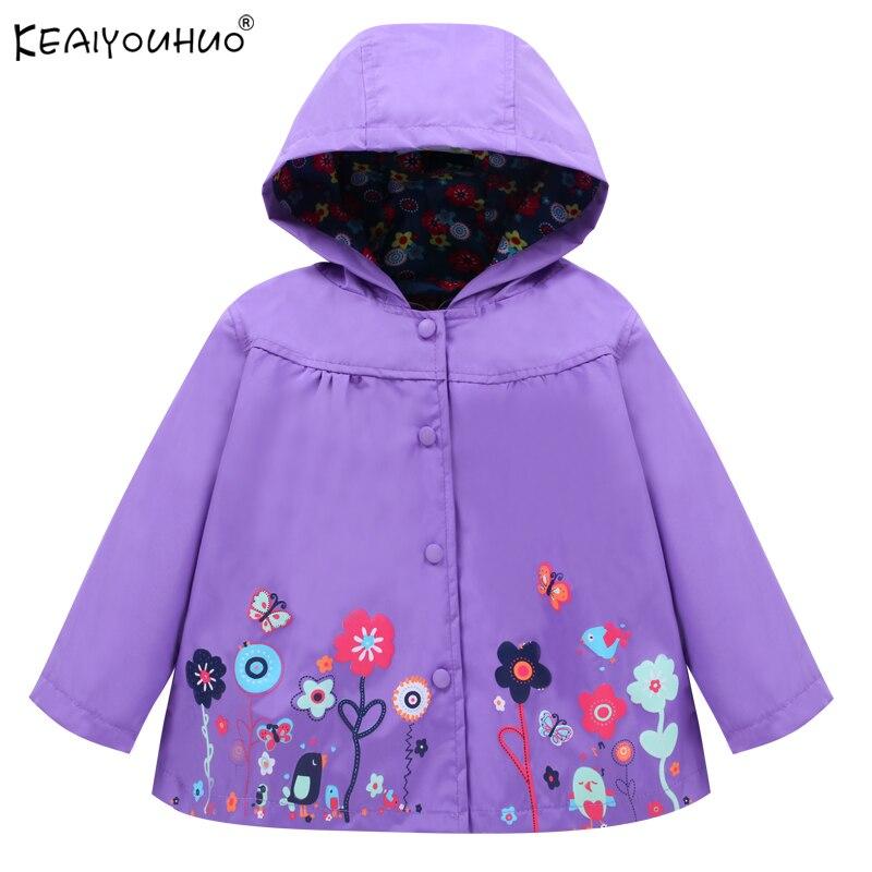 KEAIYOUHUO Brands Windbreaker 2018 Autumn Jackets For Girls Outerwear Hooded Kids Raincoat Waterproof Casual Girls Coats Jackets