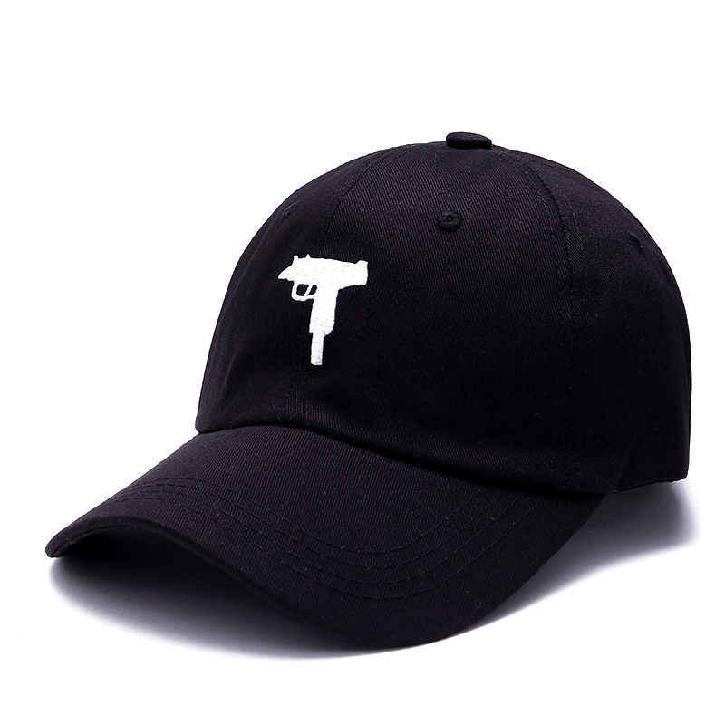 VORON Uzi Gun Baseball Cap US Mode 2017 Hysterese Hip hop kappe Männer HEYBIG Kurve visier 6 panel papa Hat casquette de marque