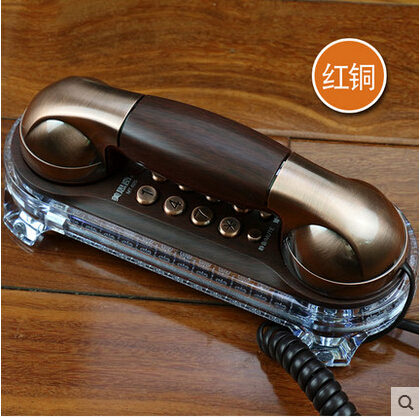 Free shipping hotel telephone coreded trimline telephone home appliance small Wall mountable phone