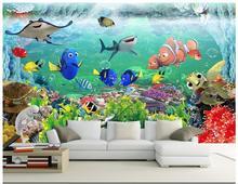 3d photo wallpaper custom murals wallpaper 3D children's room mural dreamy underwater world wall papers home decor