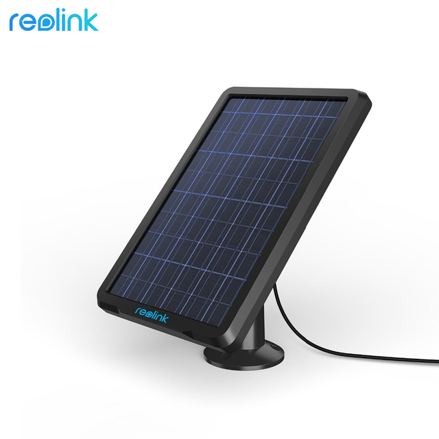 Reolink Solar Panel for Reolink Argus 2, Argus Pro, Argus Eco and Go Rechargeable Battery Powered IP Security WiFi Camera