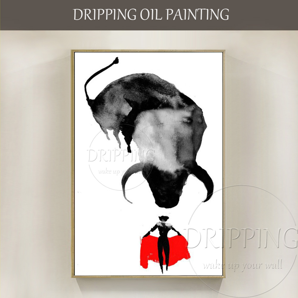 Free Shipping High Quality Cheap Price Handmade Spanish Matador Oil Painting Hand-painted Spanish Bullfight Matador Oil Painting